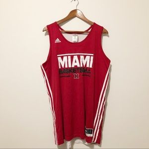 [ adidas ] #0 Miami basketball jersey